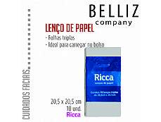 LENCO DE PAPEL RICCA GRANDE C/ 10